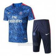 Chandal Paris Saint-Germain Manga Corta 2017-2018 Azul