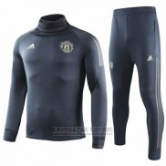 Chandal del Manchester United UCL Nino 2018-2019 Gris