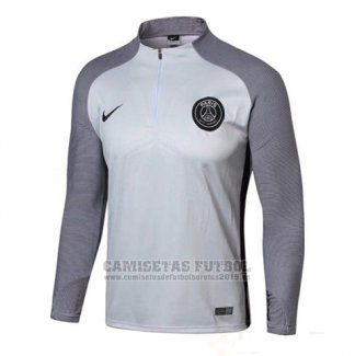 Sudadera Paris Saint-Germain 2017-2018 Blanco y Gris