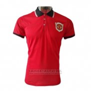 Camiseta Polo del Manchester United 20th Aniversario 2019-2020 Rojo