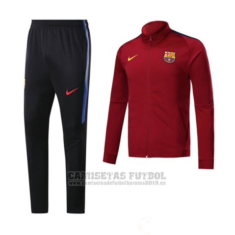 6d8cb7d7 Chandal Barcelona 2017-2018 Rojo Oscuro|Comprar camisetas de futbol ...