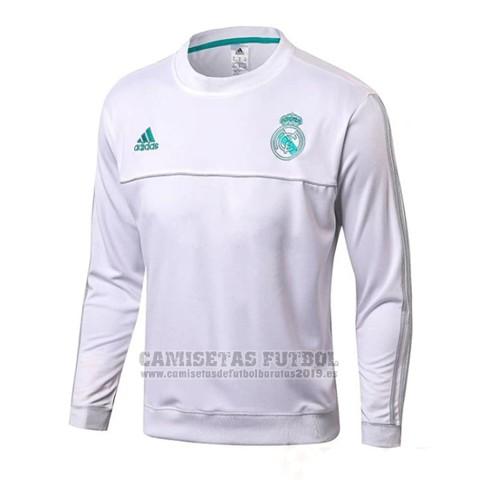 183d69a7e Sudadera Real Madrid 2017-2018 Blanco Comprar camisetas de futbol ...